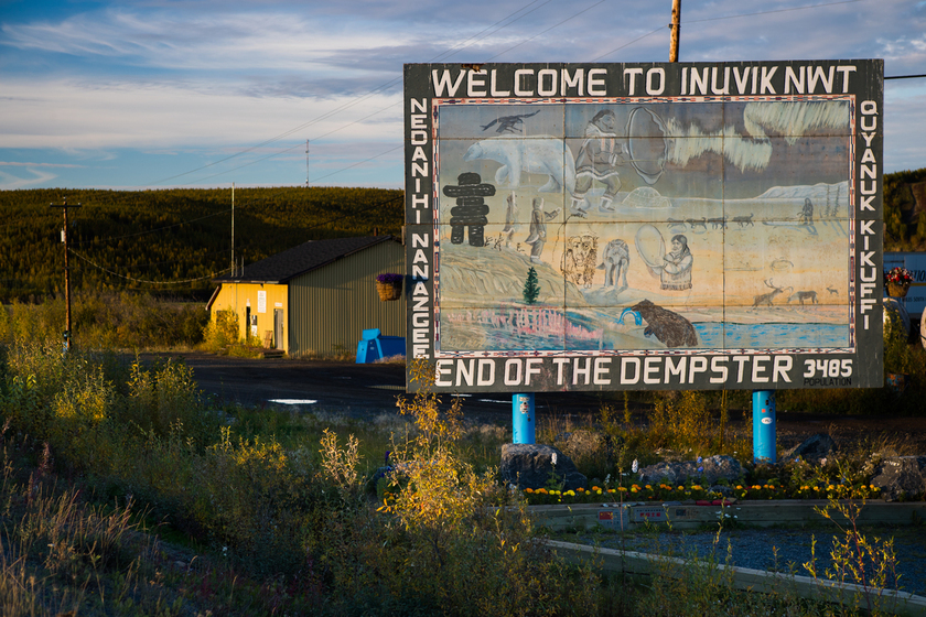 welcome to inuvik sign