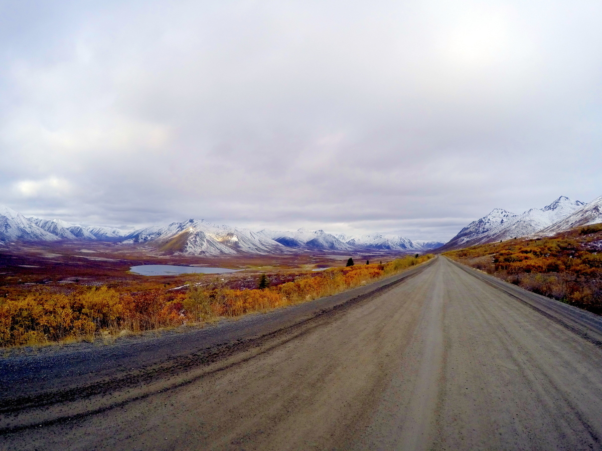 mountains along the dempster highway