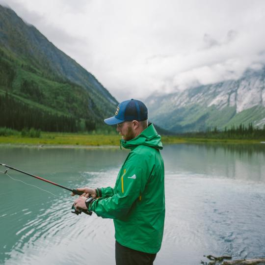 Fishing in Nahanni National Park in the Northwest Territories