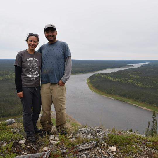 Jennie Vandermeer and James McPherson are the owners of Sahtu Adventures in the NWT.