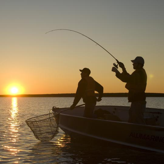 Lake fishing in the South Slave region of Canada's Northwest Territories