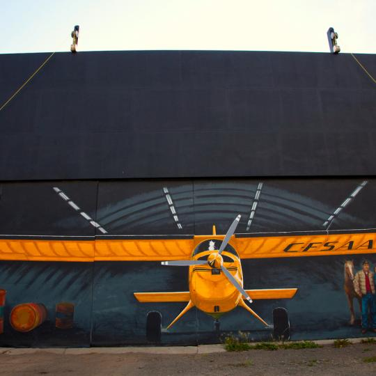 A floatplane in Norman Wells, NWT
