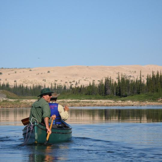 paddling the Thelon river in the Arctic Tundra