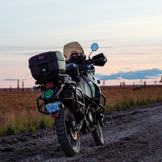 Beautiful evening riding the Dempster Highway.