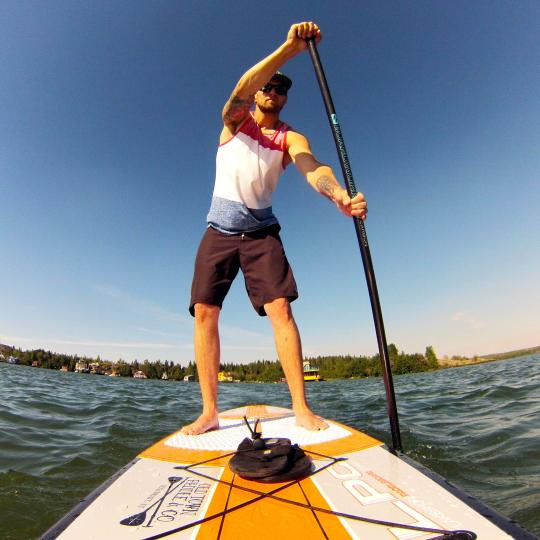 Stand up Paddleboarder in the Northwest Territories