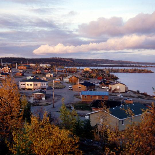 Wekweti, a small Tlicho community, is a gateway to the Barrenlands, in Canada's Northwest Territories