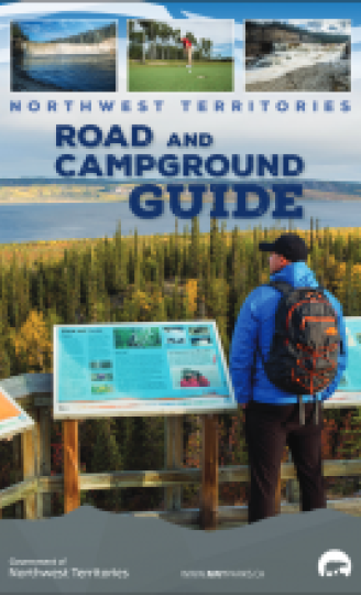 The front cover of the road and campground guide.
