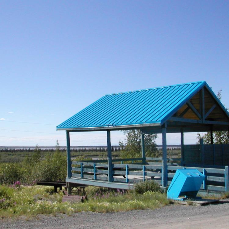 Kitchen shelter in the Happy Valley Campground in the NWT