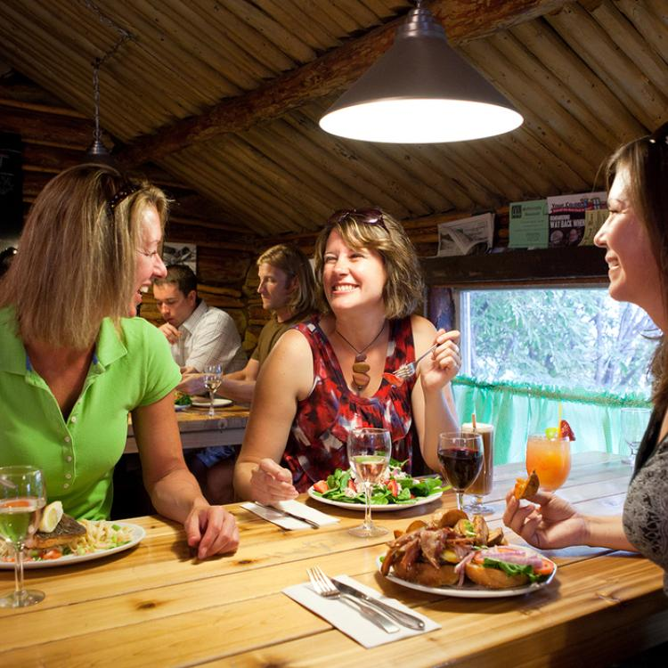 women dining at the wildcat cafe in yellowknife