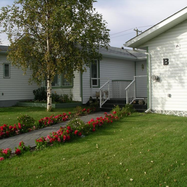 Exterior of Embleton House B & B in the summer in Yellowknife, NWT.
