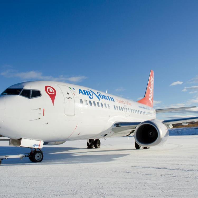 Air North - Yukon's Airline B737 jet service plane Northwest Territories.