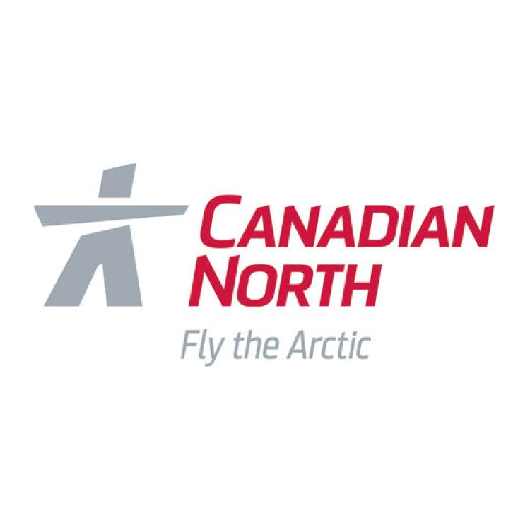 Canadian North airline Logo Fly the Arctic with inuksuk
