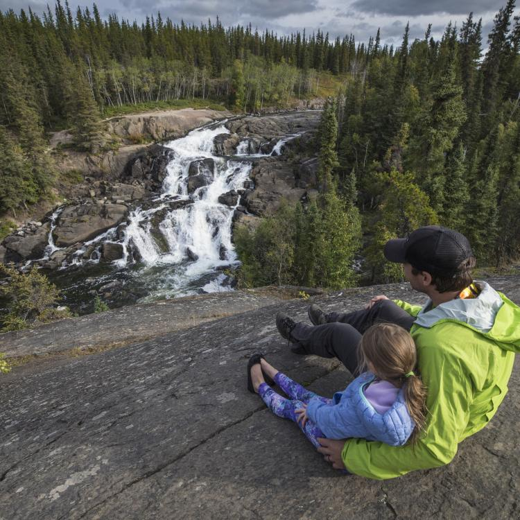 Sitting above Cameron Falls just outside of Yellowknife