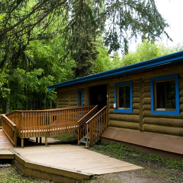 Visitor centre at Blackstone Territorial Park in the NWT