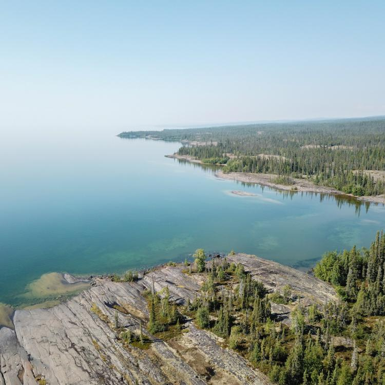 Corey Myers image of the East Arm of Great Slave Lake in the Northwest Territories