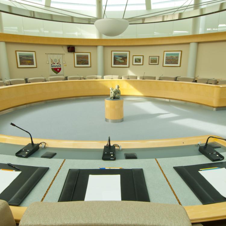 NWT Legislative Assembly chamber in Yellowknife