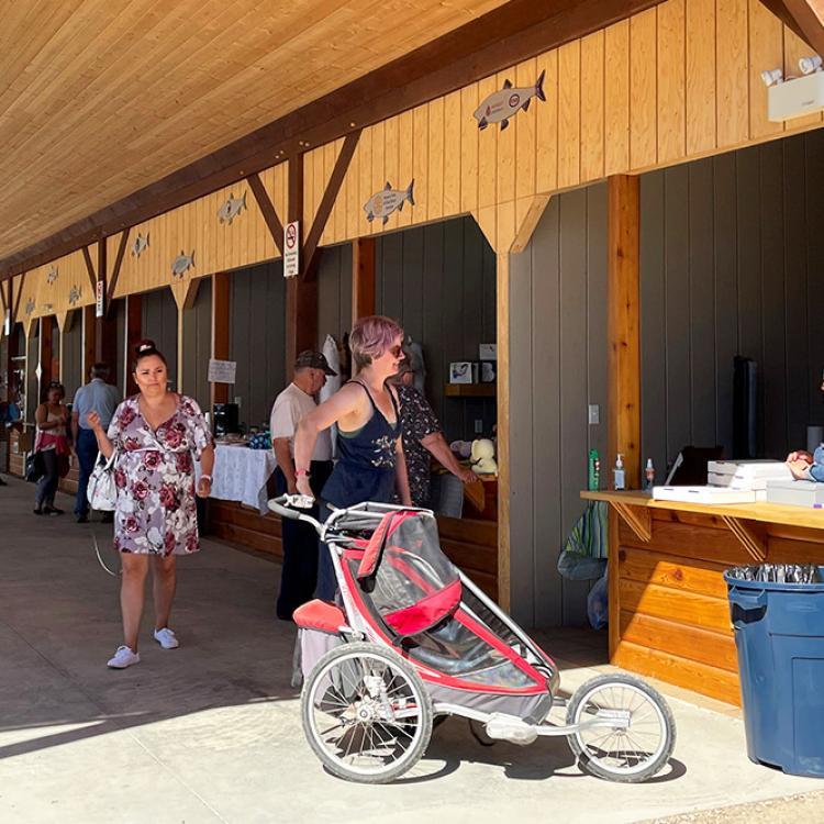 Vendors at the Fisherman wharf in Hay River Northwest Territories