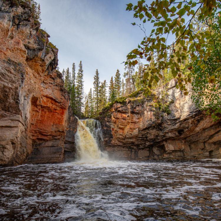 McNallie Creek falls in the McNallie Creek Territorial Park in the NWT