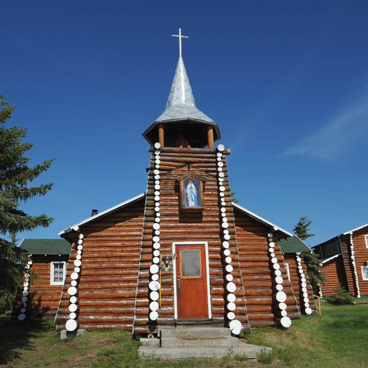 'Our Lady of Snows' log church