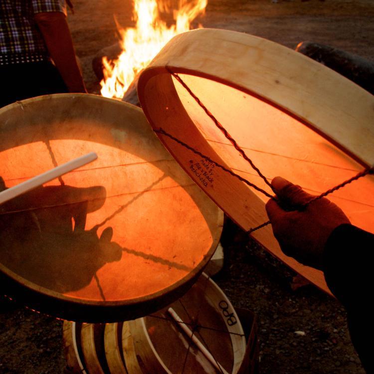 Dene drummers