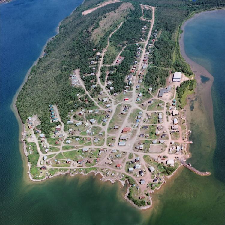 Aerial view of Łutsel K'e