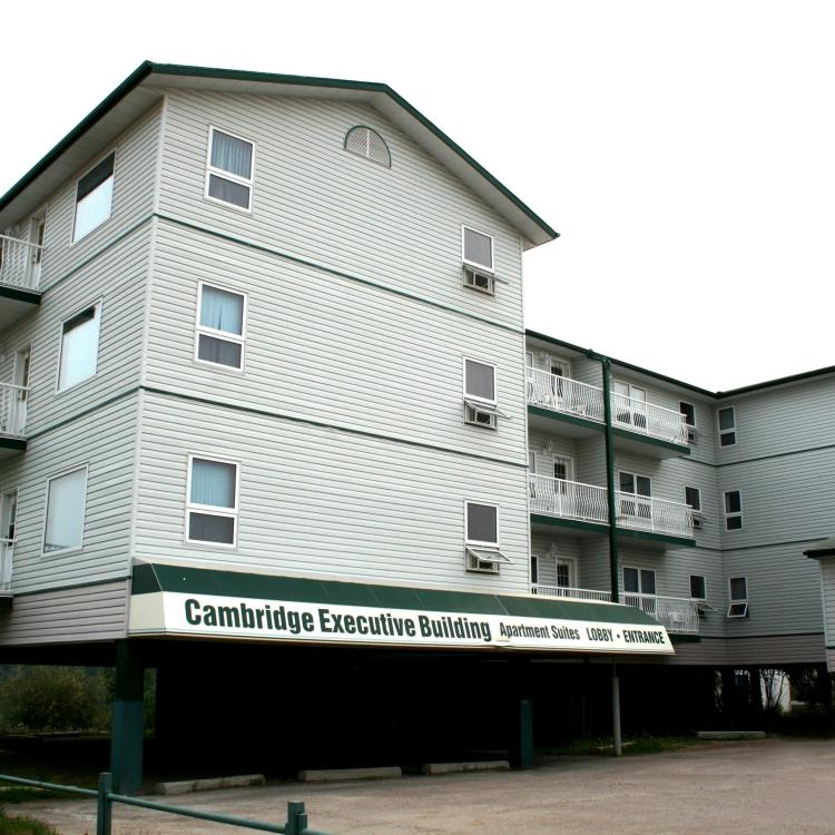 Cambridge Executive Suites front of the hotel in Hay River Northwest Territories.