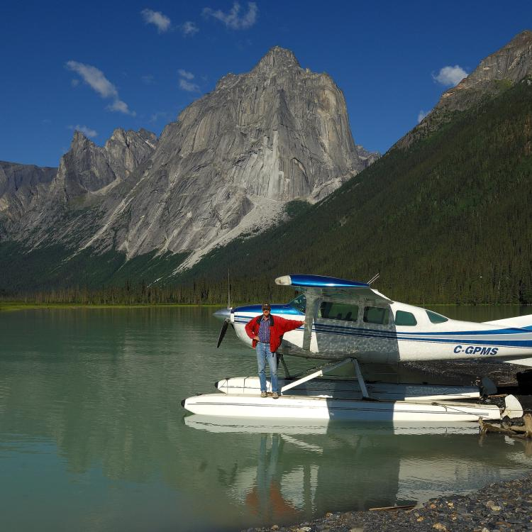Simpson Air Float Plane at Glacier Lake in the Nahanni National Park in the NWT