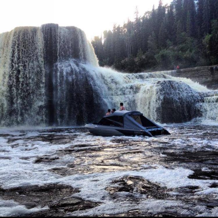 Beautiful Day Below the Falls