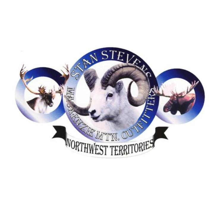 Logo of Mackenzie Mountain Outfitters with dall sheep and moose in the Sahtu region in the NWT.
