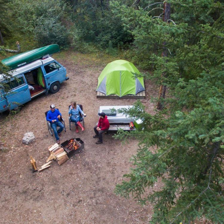 Camping in the South Slave, NWT parks
