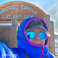 Nature Tours of Yukon - Arctic Discovery Tour - Selfie at the Arctic Circle