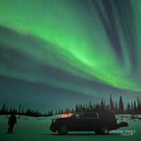 Nature Tours of Yukon - Arctic Winter Road - Aurora Borealis