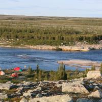 The view of the South Slave land around the Thelon River on a Jackpine Paddling trip.