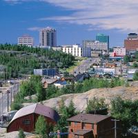 View of City of Yellowknife from Pilot's Monument