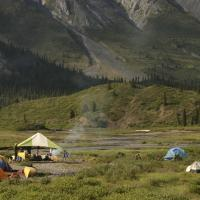 camping on the Mountain River, Northwest Territories, with Black Feather