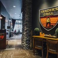 The entrance to Trader's Grill, restaurant in The Explorer Hotel in Yellowknife, Northwest Territories.