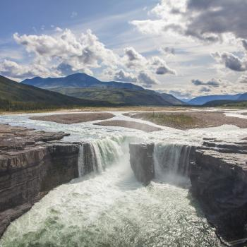 Northern Nature Photography's picture of Carcajou falls on a sunny day with some clouds in the NWT.