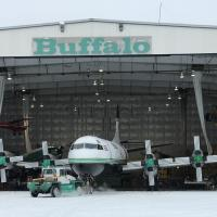 Buffalo Airways exhibition museum featuring a historic look at the planes they flew in Yellowknife, NWT.
