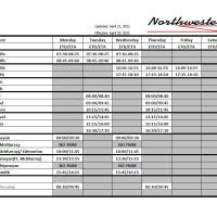Updated Northwestern Air Lease flight schedule in 2021 in the Northwest Territories.