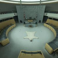 The interior of the Legislative Assembly Building in the Northwest Territories