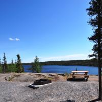 Camp site at Reid Lake on the Ingraham trail int he NWT