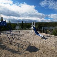 The playground at Madeline Lake Park Day use area in the N.W.T.