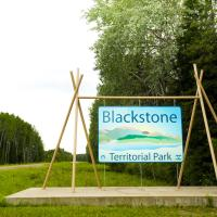 Blackstone Territorial park sign in the NWT