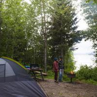 Blackstone Territorial park campsite in the NWT