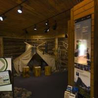 Interior of the visitor centre at Blackstone Territorial Park in the NWT