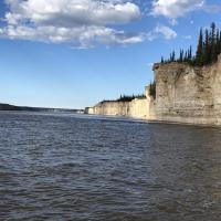 Cliffs off the Mackenzie River in the NWT