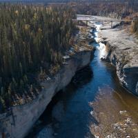 Sambaa Deh Falls in the Northwest Territories
