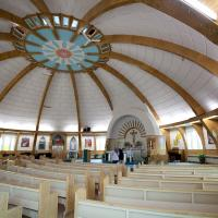 Interior of the igloo church in Inuvik NWT