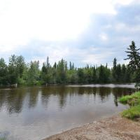 View of river in Little Buffalo Falls Territorial Park in the Northwest Territories