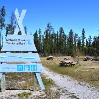McNallie Creek Territorial Park  day use area in the NWT